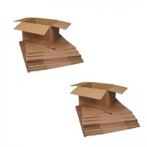 20 cartons déménagement 50 x 40 x30 cm