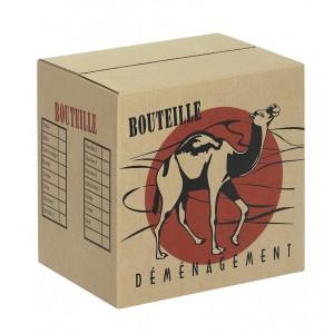 carton de d m nagement 12 bouteilles les boutiques du net dem cartons. Black Bedroom Furniture Sets. Home Design Ideas