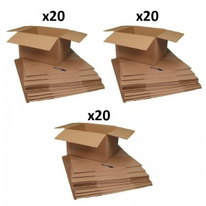 60 cartons déménagement 50 x 40 x30 cm