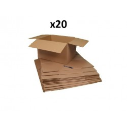 20 cartons déménagement 40 x 30 x 27cm