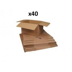 40 cartons déménagement 40 x 30 x 27cm
